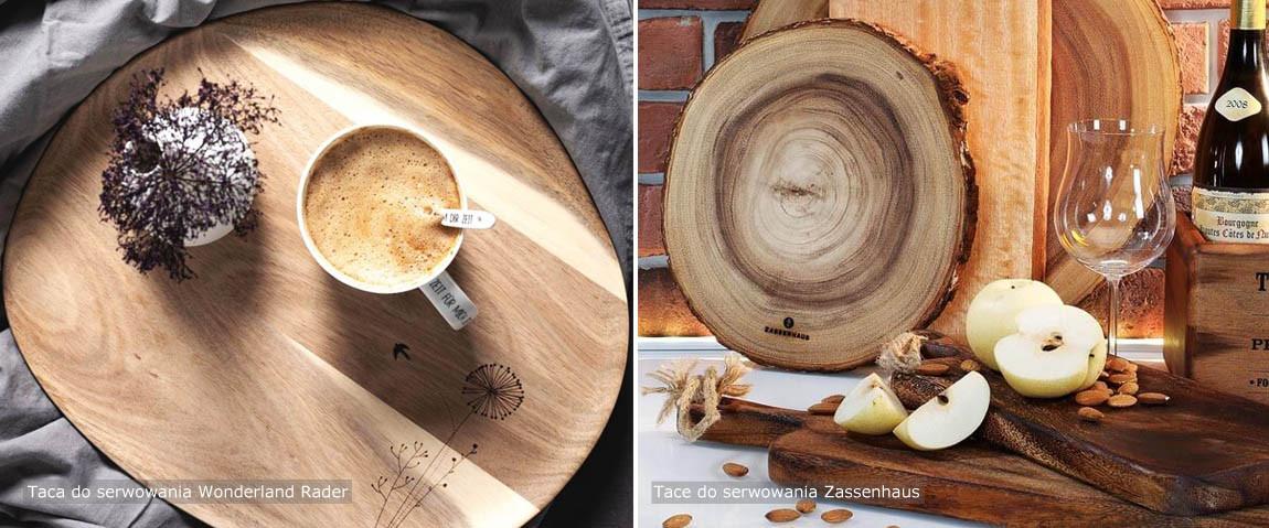 drewniane tace do przekąsek